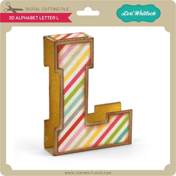 3d alphabet letter l lori whitlock s svg shop 3d alphabet letter l
