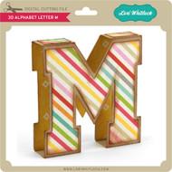 3D Alphabet Letter M