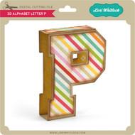 3D Alphabet Letter P