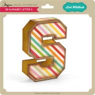 3D Alphabet Letter S