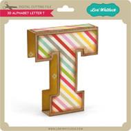 3D Alphabet Letter T