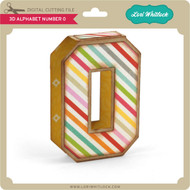 3D Alphabet Number 0