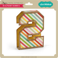 3D Alphabet Number 2