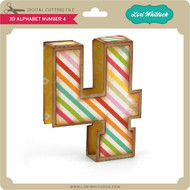 3D Alphabet Number 4