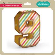 3D Alphabet Number 9