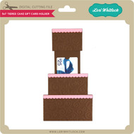 5x7 Tiered Cake Gift Card Holder