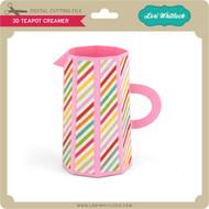 3D Teapot Creamer