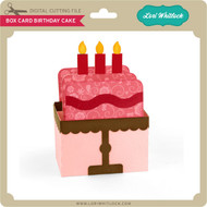 Box Card Birthday Cake