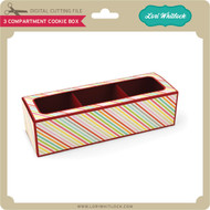 3 Compartment Cookie Box