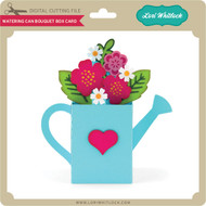 Watering Can Bouquet Box Card