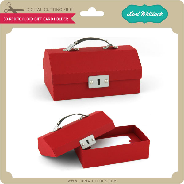 3d Red Toolbox Gift Card Holder Lori Whitlock S Svg Shop