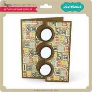 A2 Flip Flap Card 3 Circles