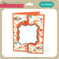 A2 Flip Flap Card Bracket Label