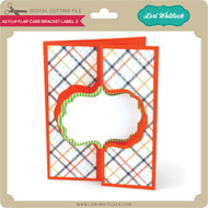 A2 Flip Flap Card Bracket Label 2