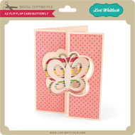 A2 Flip Flap Card Butterfly