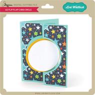 A2 Flip Flap Card Circle