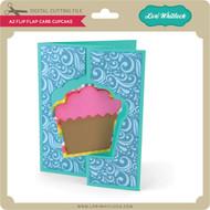 A2 Flip Flap Card Cupcake