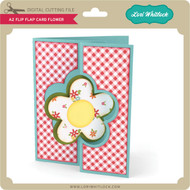 A2 Flip Flap Card Flower