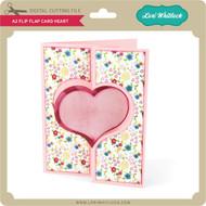 A2 Flip Flap Card Heart