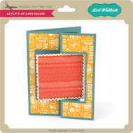 A2 Flip Flap Card Square