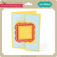 A2 Flip Flap Card Square Doily