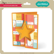 A2 Flip Flap Card Star