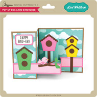 Pop Up Box Card Birdhouse