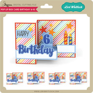 Pop Up Box Card Birthday 6-10