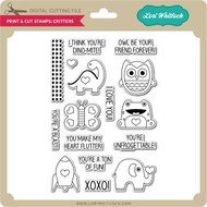 Print and Cut Stamps Critters