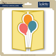 Gatefold Card Balloons