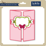 Gatefold Card Bracket Butterfly