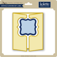 Gatefold Card Bracket Label