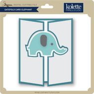 Gatefold Card Elephant