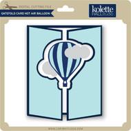 Gatefold Card Hot Air Balloon