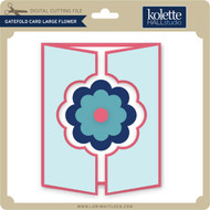 Gatefold Card Large Flower