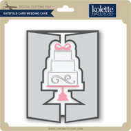 Gatefold Card Wedding Cake