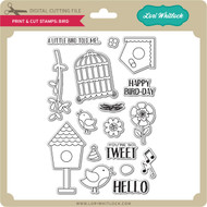 Print & Cut Stamps Birds