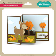Pop Up Box Card Deer