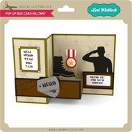 Pop Up Box Card Military