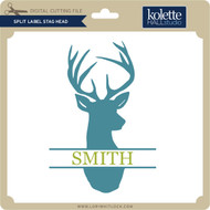 Split Label Stag Head