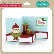 Pop Up Box Card Chistmas Elf