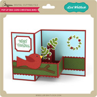 Pop Up Box Card Christmas Bird