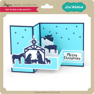 Pop Up Box Card Nativity