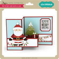 Pop Up Box Card Santa Claus
