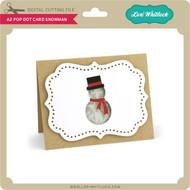 A2 Pop Dot Card Snowman
