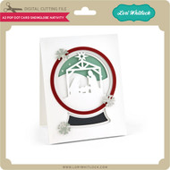 A2 Pop Dot Card Snowglobe Nativity