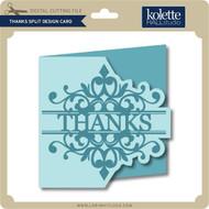 Thanks Split Design Card