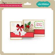 A2 Pop Up Box Card Christmas Bells