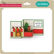 A2 Pop Up Box Card Christmas Scene