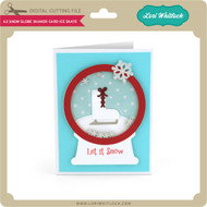 A2 Snow Globe Shaker Card Ice Skate
